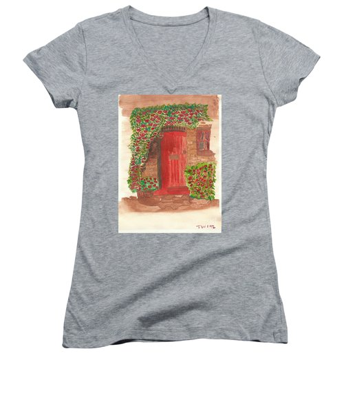 The Orange Door Women's V-Neck (Athletic Fit)