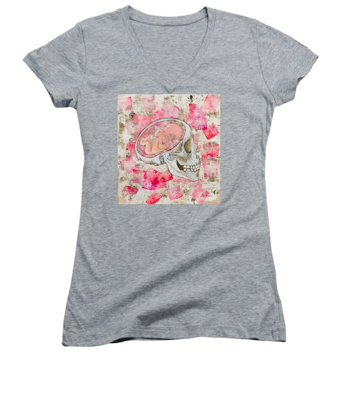 The Origin Of War Women's V-Neck T-Shirt (Junior Cut)