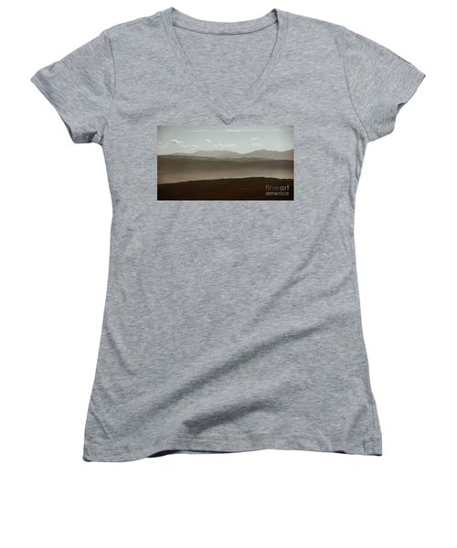 Women's V-Neck T-Shirt (Junior Cut) featuring the photograph The Other Side by Dana DiPasquale