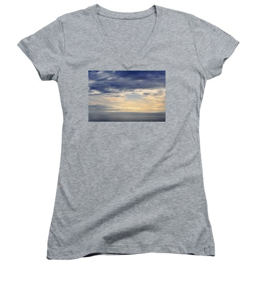 Women's V-Neck T-Shirt (Junior Cut) featuring the photograph The Pacific Coast by Kyle Hanson