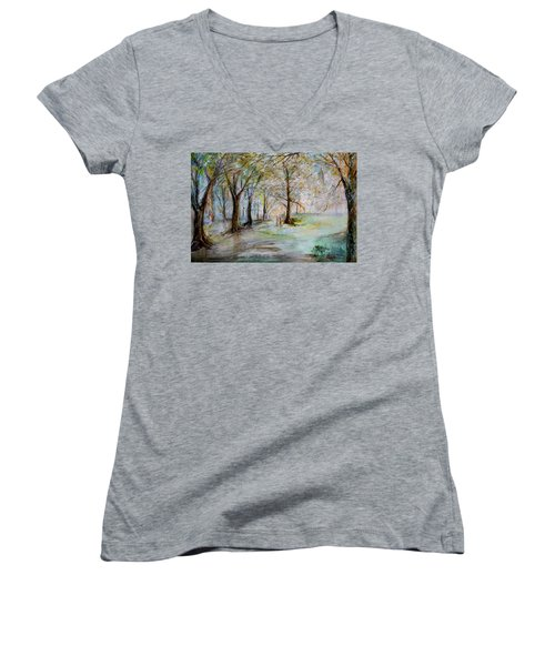 The Park Bench Women's V-Neck (Athletic Fit)