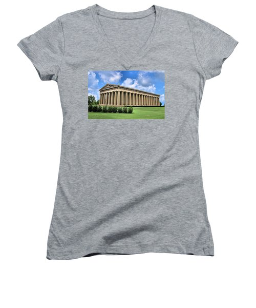 The Parthenon Women's V-Neck T-Shirt