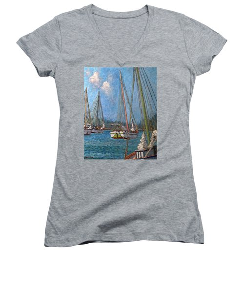 The Pink Mast Women's V-Neck (Athletic Fit)
