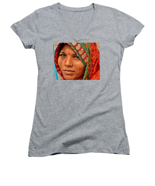 The Pride Of Indian Womenhood Women's V-Neck