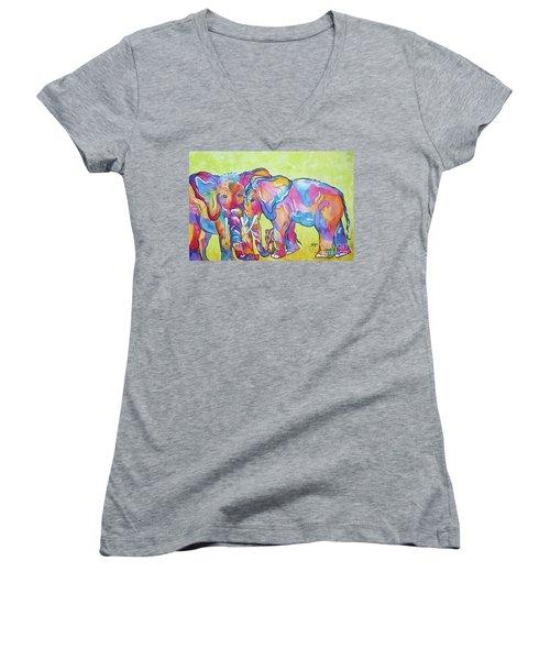 The Protectors Women's V-Neck T-Shirt (Junior Cut) by Ellen Levinson