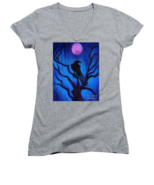 The Raven Nevermore Women's V-Neck (Athletic Fit)