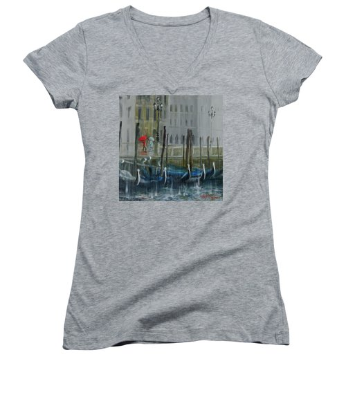 The Red Umbrella Women's V-Neck T-Shirt