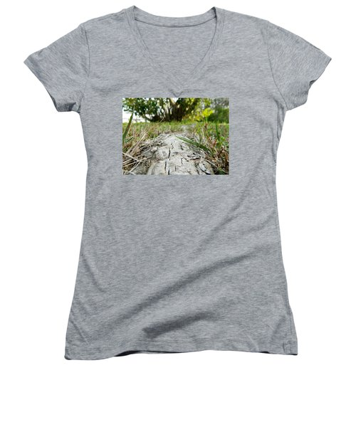 The Root Of Happiness Women's V-Neck