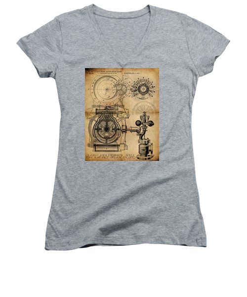The Rotary Engine Women's V-Neck (Athletic Fit)