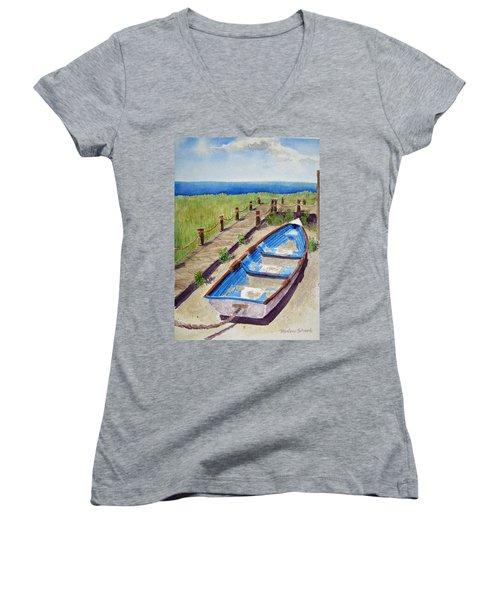 The Sandy Boat Women's V-Neck