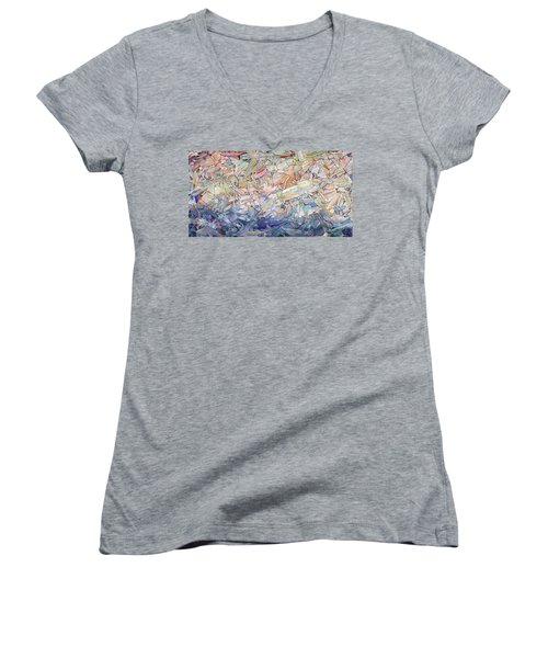 Fragmented Sea Women's V-Neck