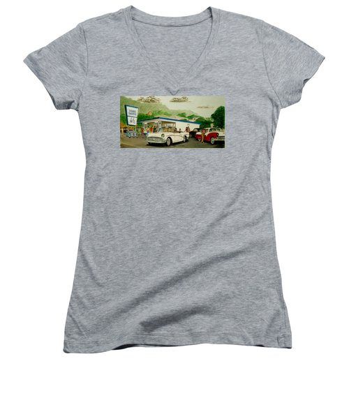 The Shake Shoppe Portsmouth Ohio 1960 Women's V-Neck