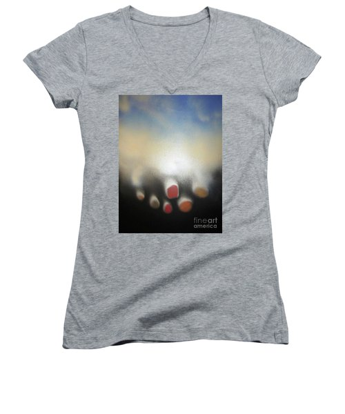 The Sky Is Falling Women's V-Neck (Athletic Fit)