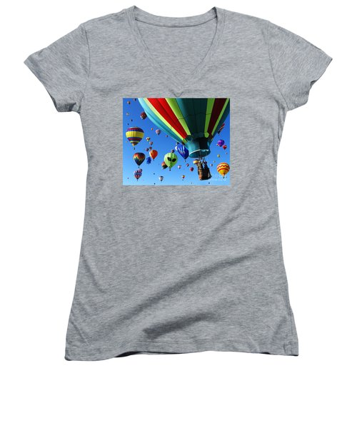 The Sky Is Full Women's V-Neck T-Shirt (Junior Cut) by Vivian Christopher