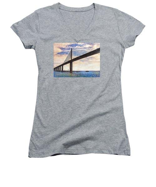 The Skyway Women's V-Neck T-Shirt (Junior Cut) by Hanny Heim