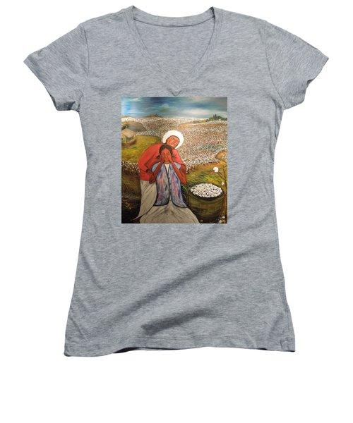 The Strength Of Grandma Women's V-Neck T-Shirt