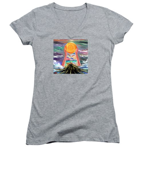 The Sun Will Shine Again Women's V-Neck (Athletic Fit)