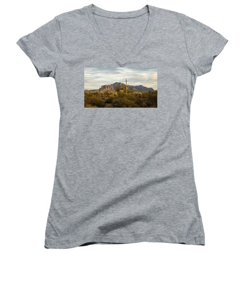 The Superstition Mountains Women's V-Neck