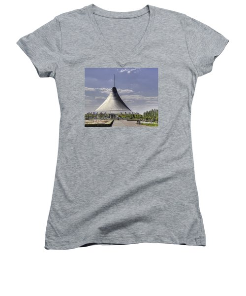 The Tent Women's V-Neck T-Shirt (Junior Cut) by Emily Kay