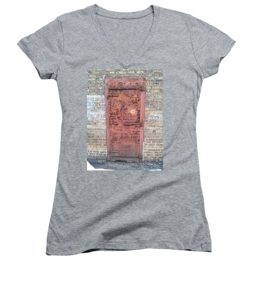 The Three Heart Door. Women's V-Neck (Athletic Fit)