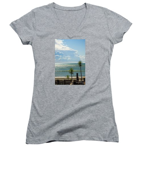 The Three Palms Women's V-Neck T-Shirt