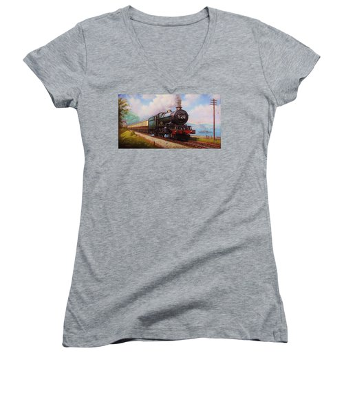 The Torbay Express. Women's V-Neck (Athletic Fit)