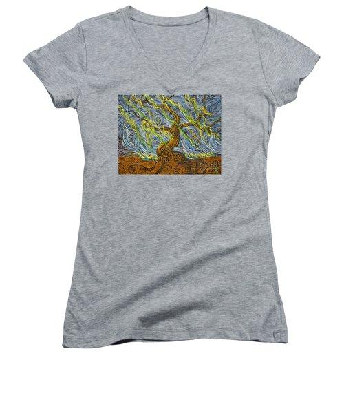 The Tree Have Eyes Women's V-Neck