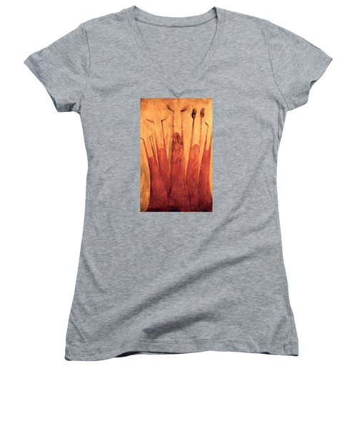 The Tree Of Weeping Women's V-Neck (Athletic Fit)