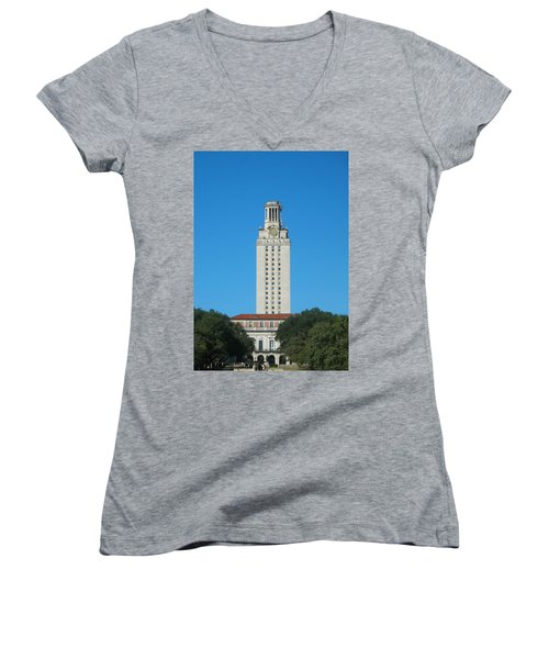 The University Of Texas Tower Women's V-Neck (Athletic Fit)