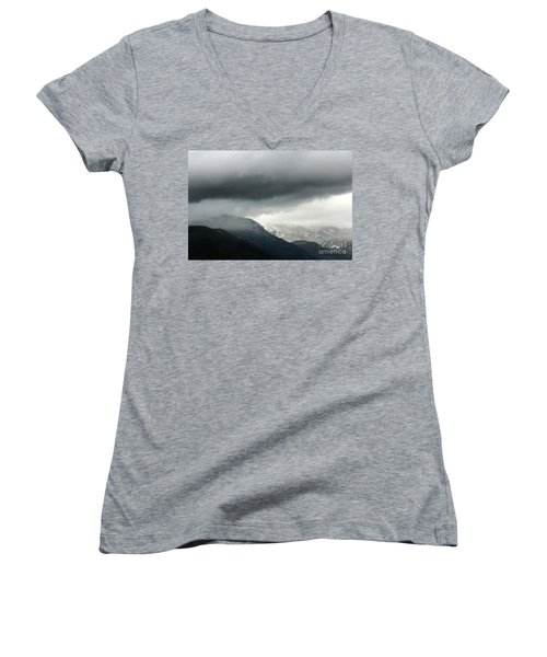 Women's V-Neck T-Shirt (Junior Cut) featuring the photograph The Valley by Dana DiPasquale