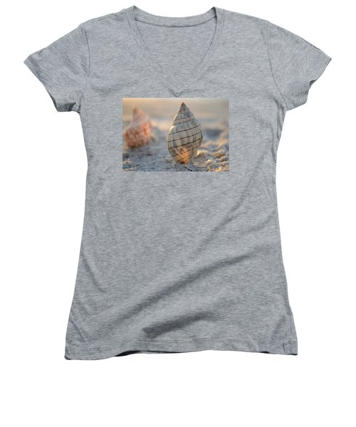 The Voice Of The Sea Women's V-Neck T-Shirt (Junior Cut) by Melanie Moraga
