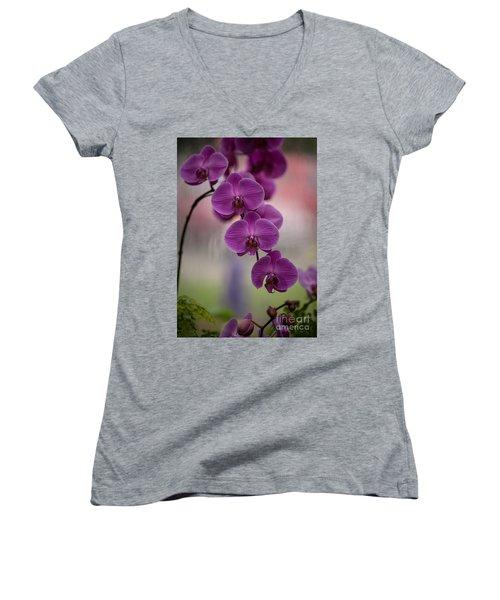 The Waiting Women's V-Neck T-Shirt (Junior Cut) by Mike Reid