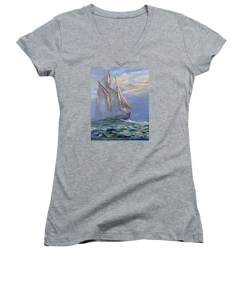The Wanderer Women's V-Neck T-Shirt