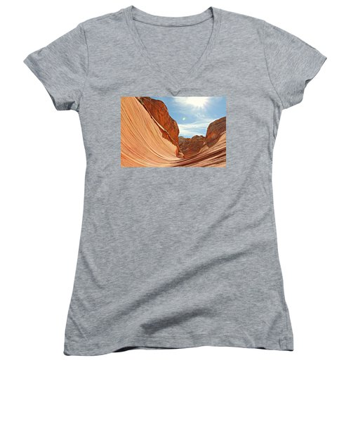 The Wave Rock #1 Women's V-Neck