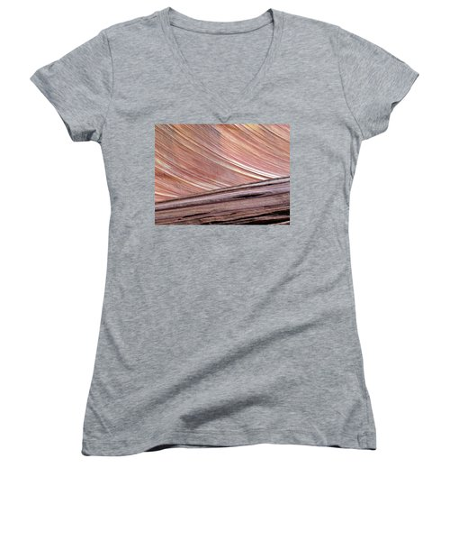 Women's V-Neck T-Shirt (Junior Cut) featuring the photograph 'the Wave' North Coyote Buttes 02 by Jeff Brunton