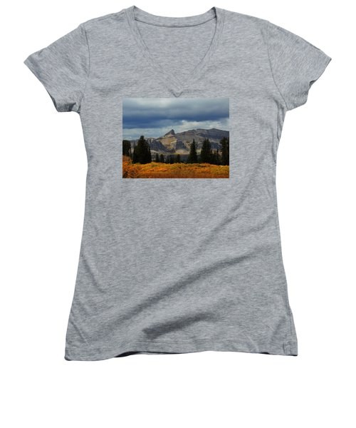 Women's V-Neck T-Shirt (Junior Cut) featuring the photograph The Wedge by Raymond Salani III