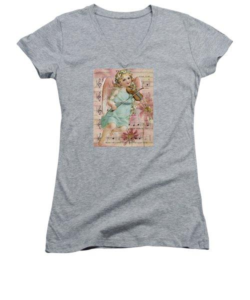The Wind  Women's V-Neck T-Shirt