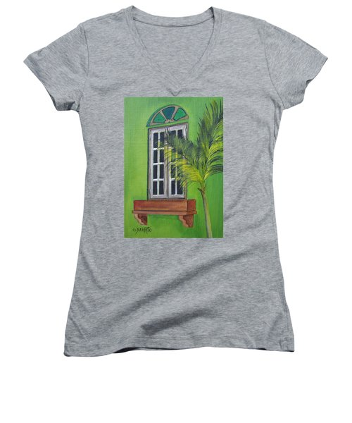 The Window Women's V-Neck (Athletic Fit)
