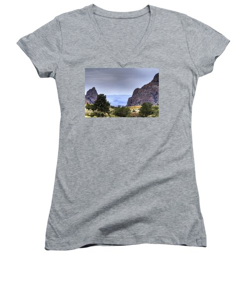 The Window View Women's V-Neck (Athletic Fit)