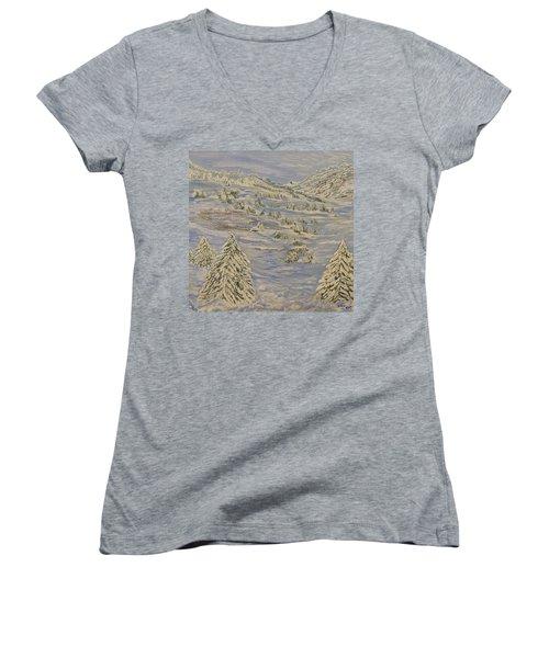 The Winter Heart Women's V-Neck T-Shirt