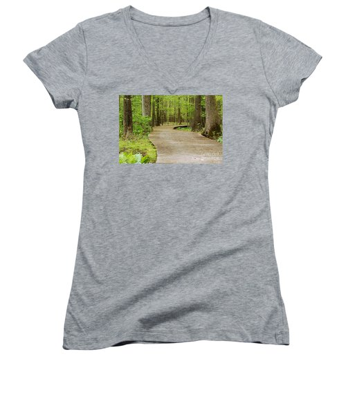 The Wooden Path Women's V-Neck (Athletic Fit)
