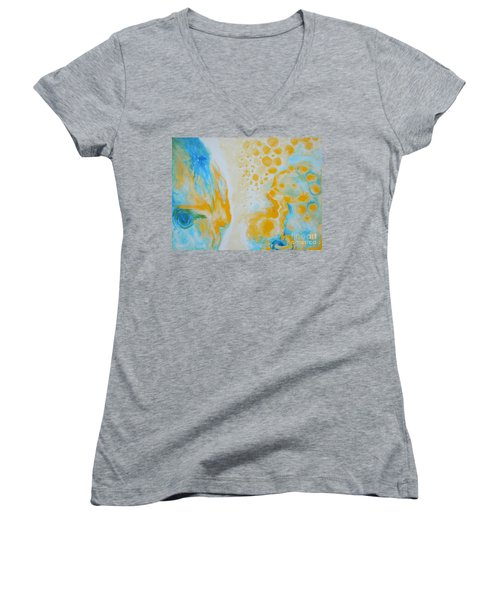 There - Looking At Me Women's V-Neck (Athletic Fit)
