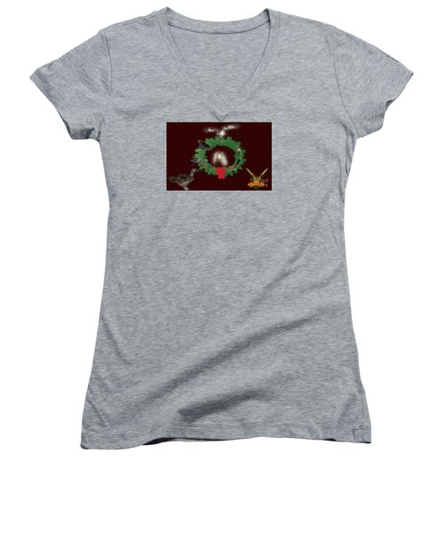 Women's V-Neck T-Shirt (Junior Cut) featuring the photograph These Are A Few Of My Favorite Things 2 by Donna Brown