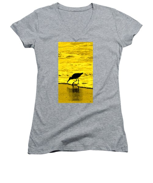 Women's V-Neck T-Shirt (Junior Cut) featuring the photograph This Beach Belongs To Me by Ian  MacDonald