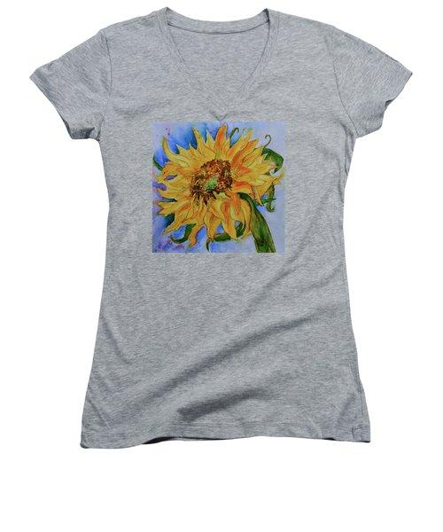 This Here Sunflower Women's V-Neck