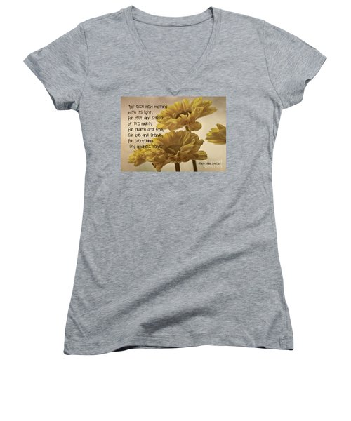 Thoughts Of Gratitude Women's V-Neck T-Shirt