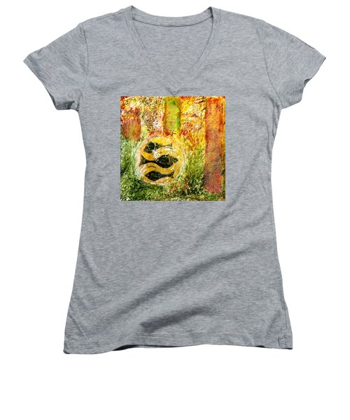 Three Fishes Women's V-Neck