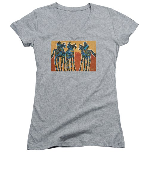 Three With Rope Women's V-Neck