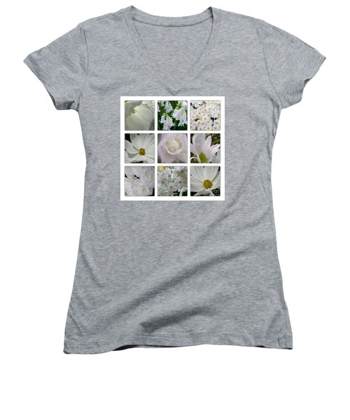 Through The White Picture Window Women's V-Neck T-Shirt