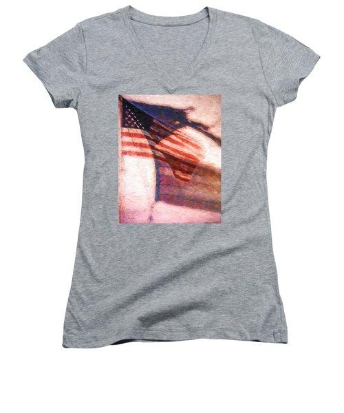Through War And Peace Women's V-Neck T-Shirt (Junior Cut) by Bob Orsillo